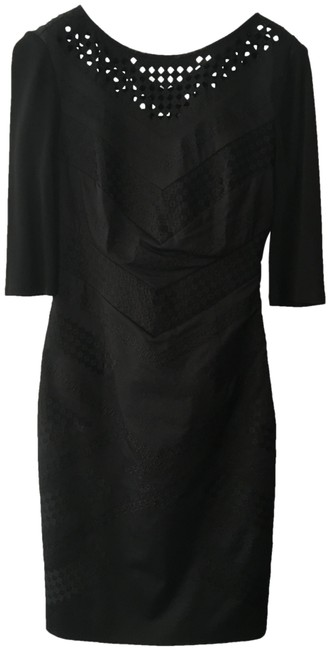 Item - Black Fitted Mid-length Work/Office Dress Size 6 (S)