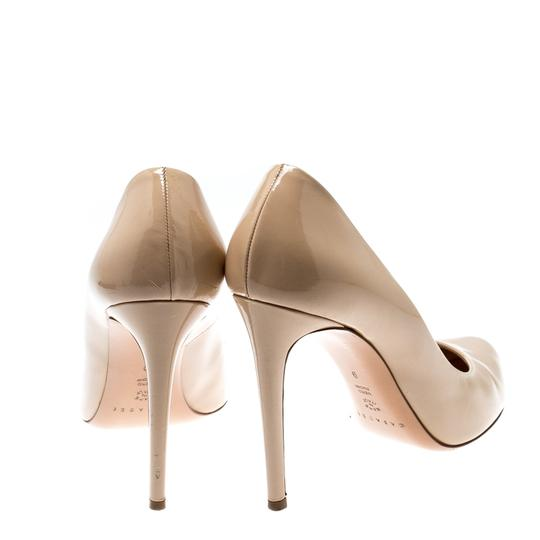 Casadei Patent Leather Leather Pointed Toe Beige Pumps Image 2