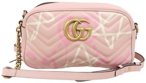 Gucci Guccighost Marmont Small Calfskin Shoulder Bag