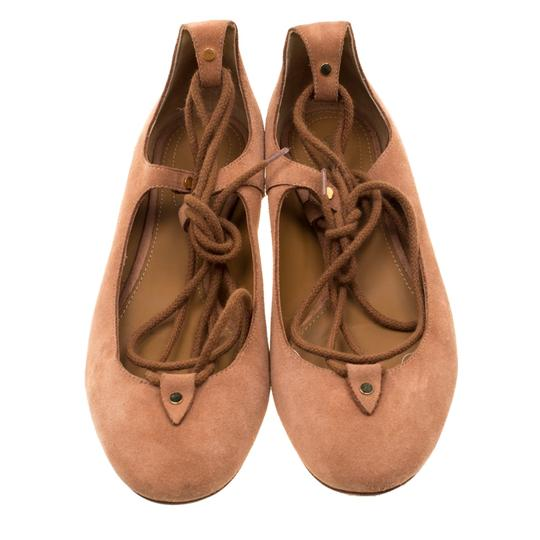 Chloé Suede Ballet Leather Brown Flats Image 1