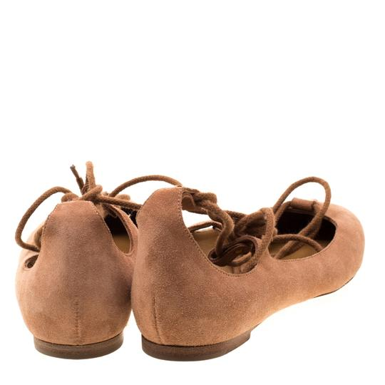 Chloé Suede Ballet Leather Brown Flats Image 2