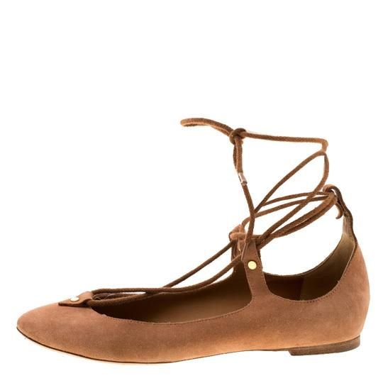 Chloé Suede Ballet Leather Brown Flats Image 3