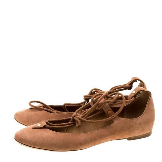 Chloé Suede Ballet Leather Brown Flats Image 4