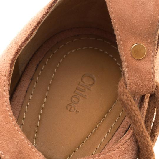 Chloé Suede Ballet Leather Brown Flats Image 6
