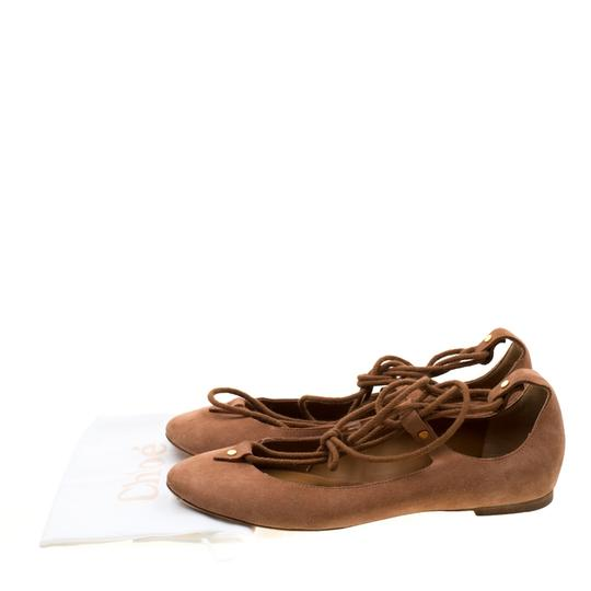 Chloé Suede Ballet Leather Brown Flats Image 7