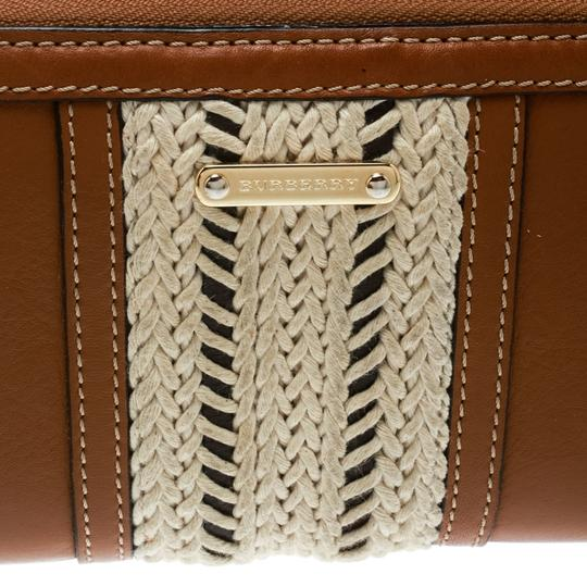 Burberry Burberry Brown Leather Zip Around Wallet Image 8
