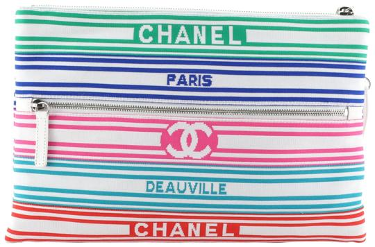 Preload https://img-static.tradesy.com/item/26196901/chanel-biarritz-venise-zip-pouch-striped-large-multicolor-canvas-clutch-0-1-540-540.jpg