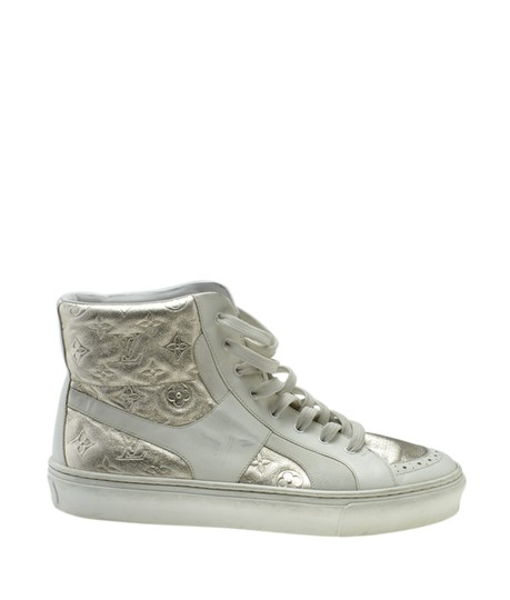 Louis Vuitton Sneakers Leather WhitexSilver Flats Image 2
