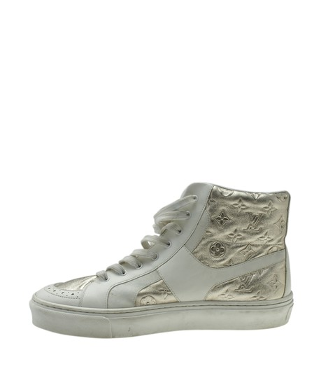 Louis Vuitton Sneakers Leather WhitexSilver Flats Image 3