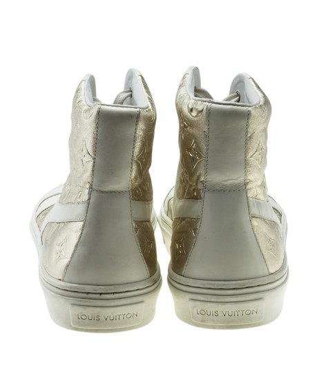 Louis Vuitton Sneakers Leather WhitexSilver Flats Image 5