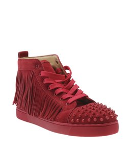 Christian Louboutin Sneakers Suede Red Flats