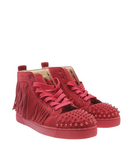 Christian Louboutin Sneakers Suede Red Flats Image 1
