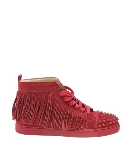 Christian Louboutin Sneakers Suede Red Flats Image 2