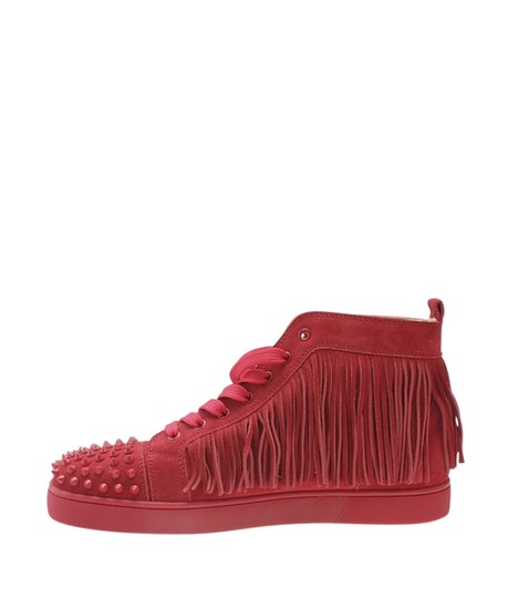 Christian Louboutin Sneakers Suede Red Flats Image 3