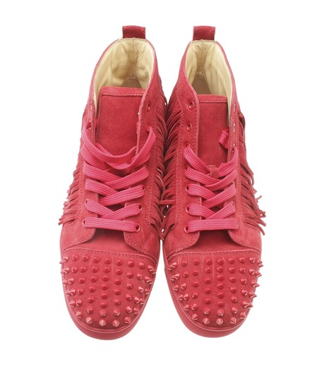 Christian Louboutin Sneakers Suede Red Flats Image 4