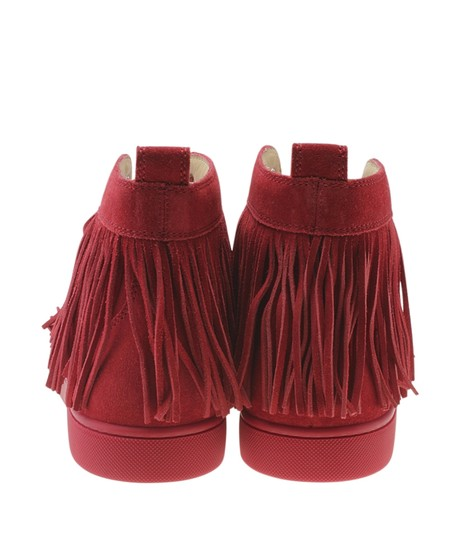 Christian Louboutin Sneakers Suede Red Flats Image 5