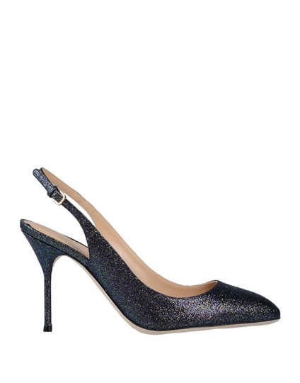 Sergio Rossi Designer Stiletto Blue Pumps Image 1
