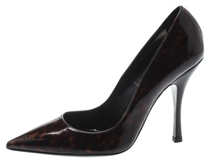 Dsquared2 Patent Leather Pointed Toe Leather Brown Pumps