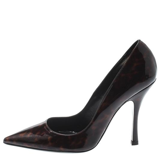 Dsquared2 Patent Leather Pointed Toe Leather Brown Pumps Image 4