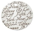 Tiffany & Co. Notes Fifth Avenue New York Engraved Circular Silver Pendant Charm Image 0