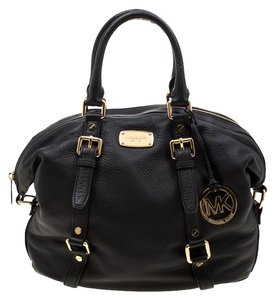 Michael Kors Leather Fabric Satchel in Black