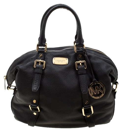 Michael Kors Leather Fabric Satchel in Black Image 0