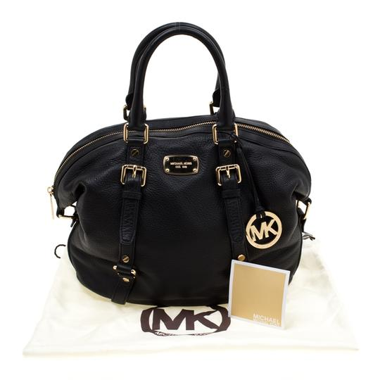 Michael Kors Leather Fabric Satchel in Black Image 11