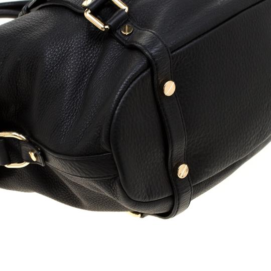 Michael Kors Leather Fabric Satchel in Black Image 3
