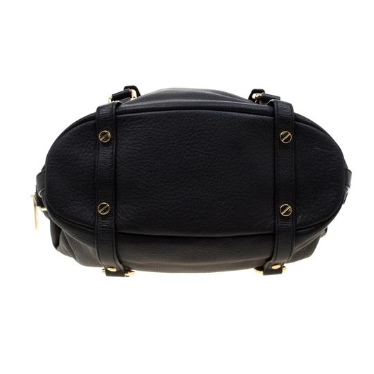 Michael Kors Leather Fabric Satchel in Black Image 5