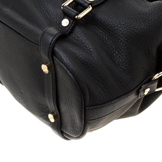 Michael Kors Leather Fabric Satchel in Black Image 6