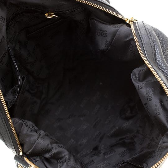 Michael Kors Leather Fabric Satchel in Black Image 7
