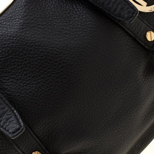 Michael Kors Leather Fabric Satchel in Black Image 8