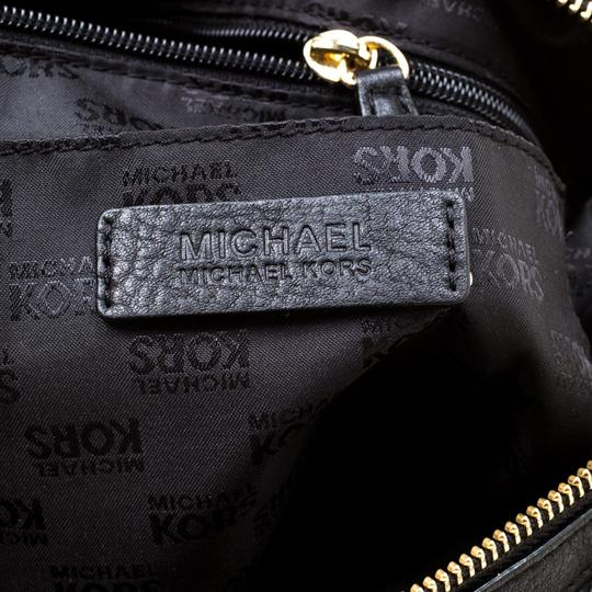 Michael Kors Leather Fabric Satchel in Black Image 9