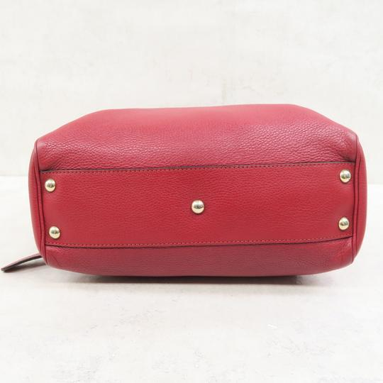 Gucci Bamboo Shopper Calfskin Small Satchel in Red Image 3