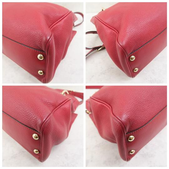 Gucci Bamboo Shopper Calfskin Small Satchel in Red Image 4