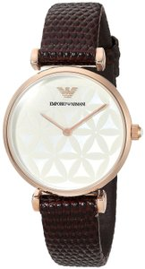 Emporio Armani Emporio Armani Womens Retro Style Brown Leather Strap AR1990