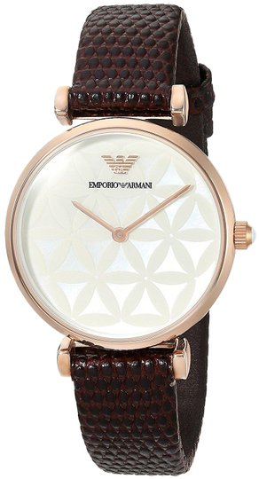Preload https://img-static.tradesy.com/item/26197173/emporio-armani-brown-womens-retro-style-leather-strap-ar1990-watch-0-1-540-540.jpg
