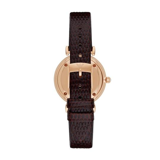 Emporio Armani Emporio Armani Womens Retro Style Brown Leather Strap AR1990 Image 1