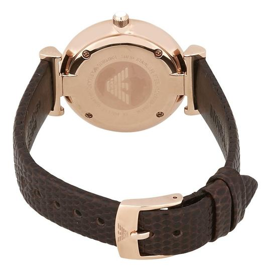 Emporio Armani Emporio Armani Womens Retro Style Brown Leather Strap AR1990 Image 2