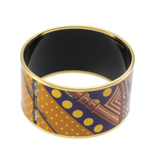 Hermès Hermes Extra Wide Bangle Bracelet Printed Enamel Pattern with Pouch Image 2