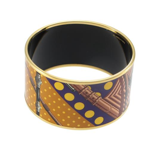 Hermès Hermes Extra Wide Bangle Bracelet Printed Enamel Pattern with Pouch Image 4