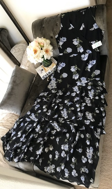 INC International Concepts short dress Black with Blue Flowers on Tradesy Image 3