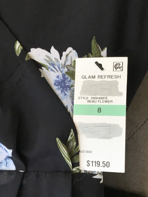 INC International Concepts short dress Black with Blue Flowers on Tradesy Image 4
