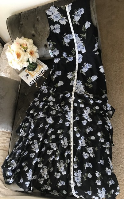 INC International Concepts short dress Black with Blue Flowers on Tradesy Image 5