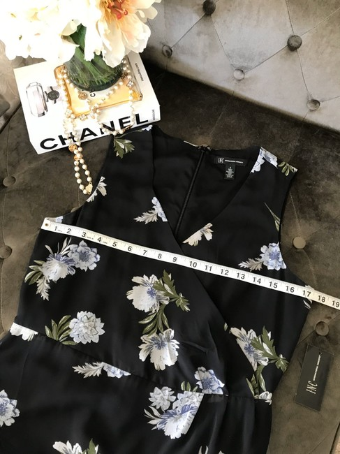 INC International Concepts short dress Black with Blue Flowers on Tradesy Image 6