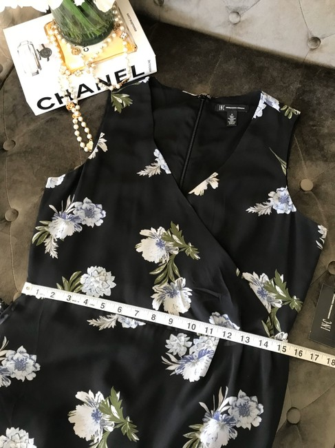 INC International Concepts short dress Black with Blue Flowers on Tradesy Image 7