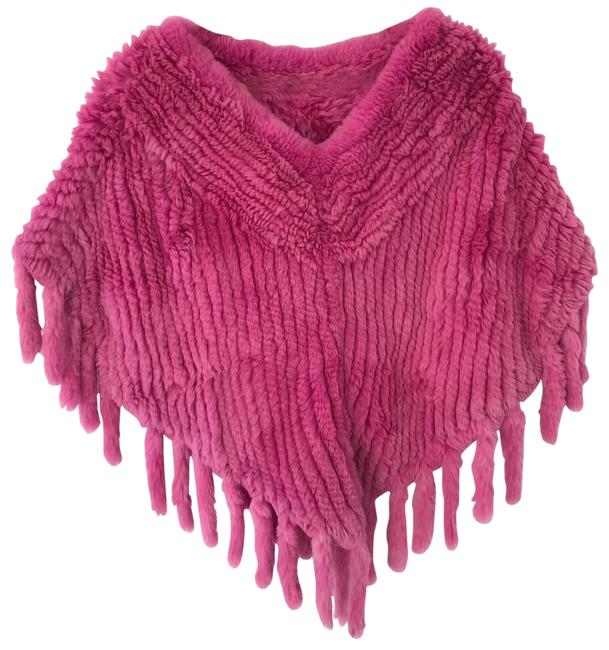 Preload https://img-static.tradesy.com/item/26197262/hot-pink-knitted-rabbit-fur-ponchocape-size-os-one-size-0-2-650-650.jpg