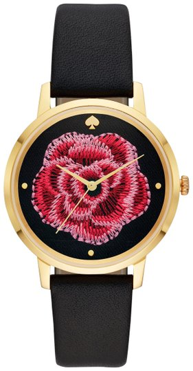 Preload https://img-static.tradesy.com/item/26197269/kate-spade-blackgold-women-s-metro-floral-leather-ksw1459-watch-0-1-540-540.jpg