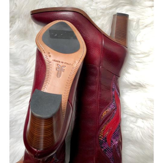 Frye Deep Brownish Wine Boots Image 3
