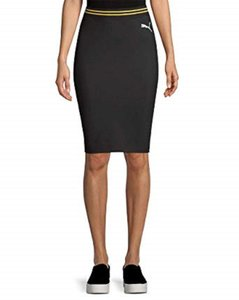PUMA by Rihanna Casual Knee Lenght Pencil Skirt Black
